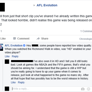 Example of People not knowing the Budget of AFL Evolution.
