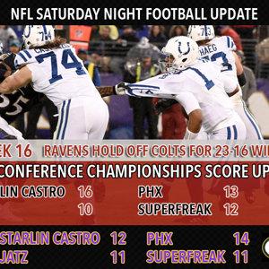Week 16 Saturday Night Football