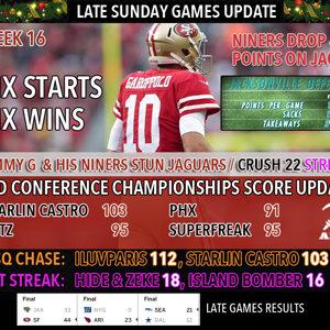 Week 16 Late games update