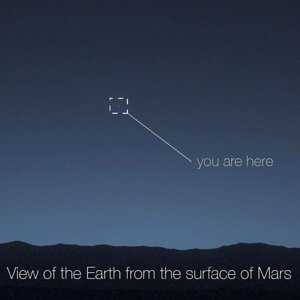 Earth, from Mars