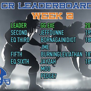 AE18 Leaderboard week 2