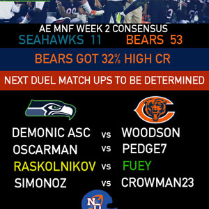 MNF Seahawks @ Bears