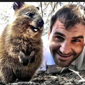 kennedy with quokka