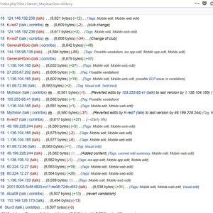 StevenMay Wikipedia history